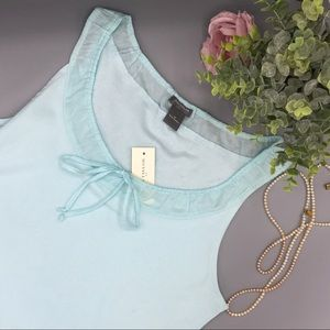 Ann Taylor blue  tank blouse